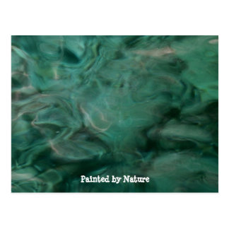 Aquatic Abstract - Painted by Nature Postcard
