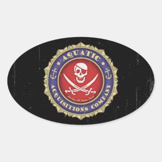 Aquatic Acquisitions -color Oval Sticker