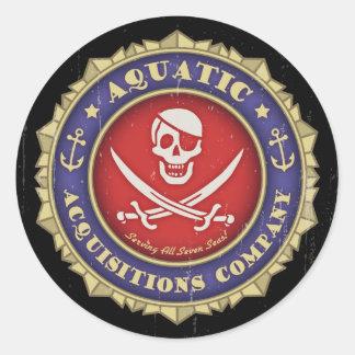 Aquatic Acquisitions -color Classic Round Sticker