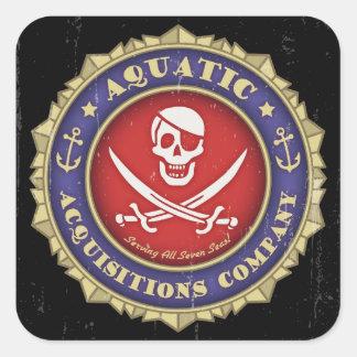 Aquatic Acquisitions -color Square Sticker