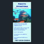 "Aquatic Adventures, rack card<br><div class=""desc"">Double side rack card</div>"