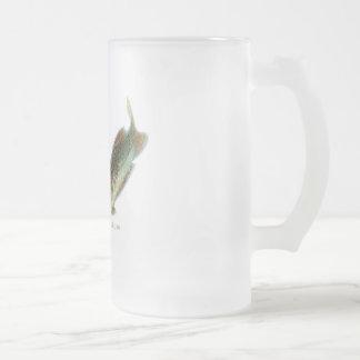Aquatic Animal Art Frosted Glass Beer Mug
