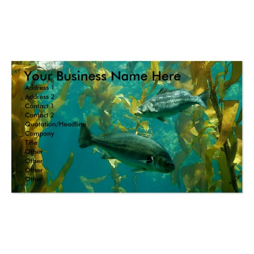 Aquatic Card Double-Sided Standard Business Cards (Pack Of 100)