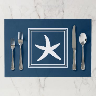 Beach Themed Aquatic design paper placemat