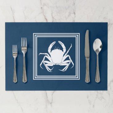 Beach Themed Aquatic design paper placemat