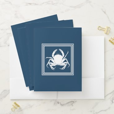 Beach Themed Aquatic design pocket folder