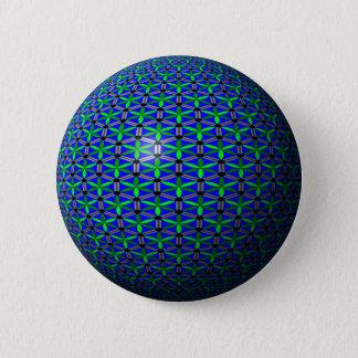 Aquatic Flowers Button