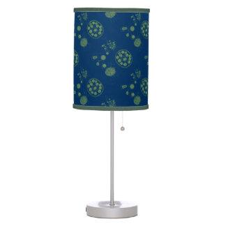 Aquatic Green Algae Pattern Table Lamp
