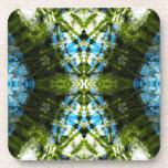 Aquatic Lace - Blue and Green Coaster
