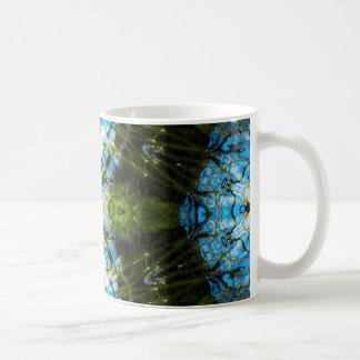 Aquatic Lace - Blue and Green Coffee Mug