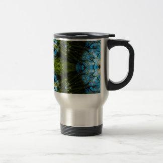 Aquatic Lace - Blue and Green Travel Mug