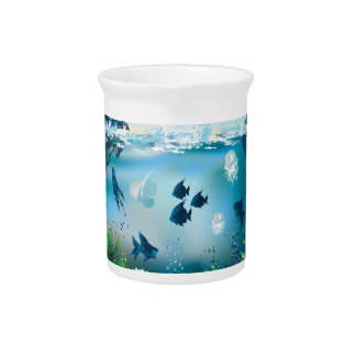 Aquatic Landscape Beverage Pitcher