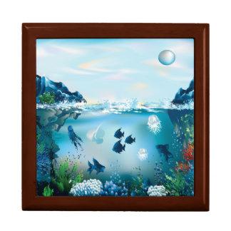 Aquatic Landscape Jewelry Box