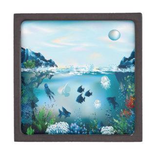 Aquatic Landscape Keepsake Box