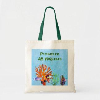 Aquatic Life Canvas Bags