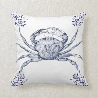 Aquatic Life Delftware ~ Green Crab Cushions Pillow