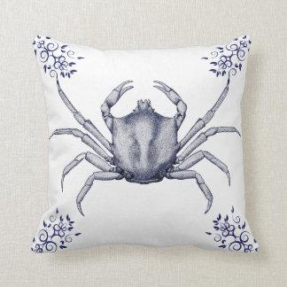 Aquatic Life Delftware ~ Kelp Crab Cushions Pillow