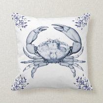 Aquatic Life Delftware ~ Stone Crab Cushions
