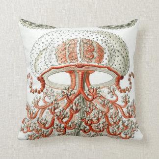 Aquatic Life ~ Haeckel Jellyfish Close Up Cushions