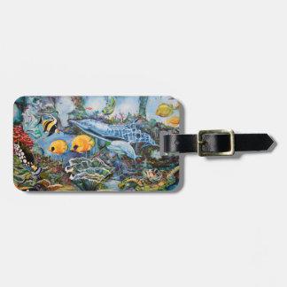 Aquatic life luggage tag