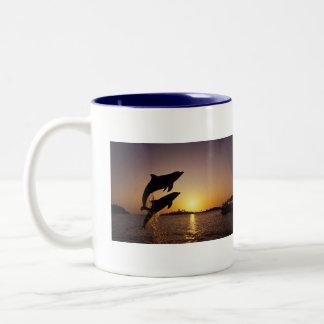 Aquatic Life Two-Tone Coffee Mug