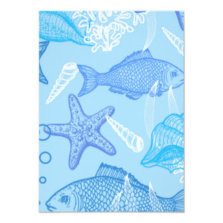 Aquatic Life Pattern Card
