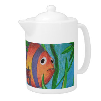 aquatic life teapot