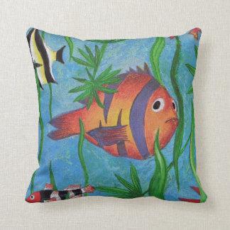 aquatic life throw pillow