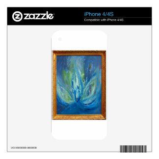 Aquatic Lotus Decals For iPhone 4S