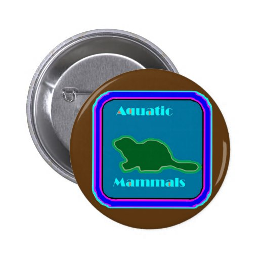 Aquatic Mammals - Nature Lovers Favorite Pinback Buttons