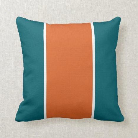 Aquatic Orange 2 Throw Pillow