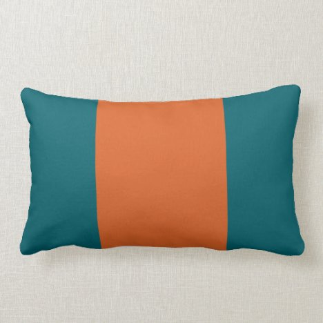 Aquatic Orange Lumbar Pillow