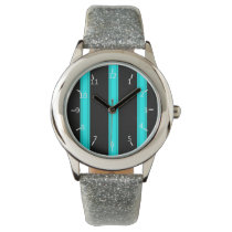 Aquatic Pinstriped Wrist Watch