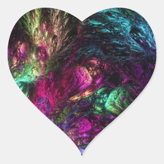 Aquatic Plant Life Heart Sticker