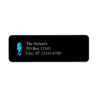 Aquatic Seahorse Return Address Label