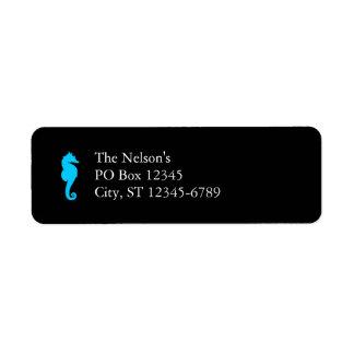 Aquatic Seahorse Label