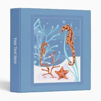 Aquatic Seahorse Starfish Ocean Binder