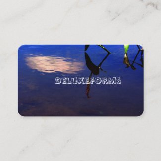 Aquatic Silhouette Cloud Business Card