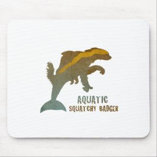 Aquatic Squatchy Badger Mouse Pad