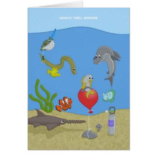Aquatic Thrill Seekers Greeting Card