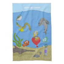 Aquatic Thrill Seekers Kitchen Towel