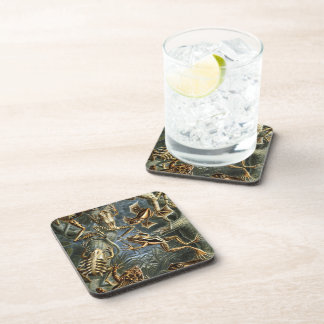 Aquatic Toads and Frogs Coaster