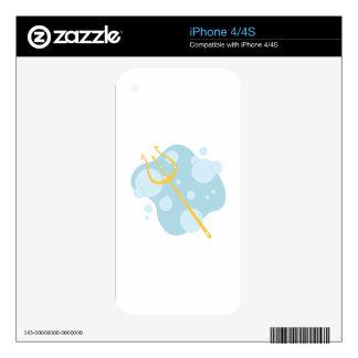 Aquatic Trident Skins For iPhone 4