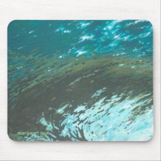 Aquatic Wave Mousepad by of Margaret Juul