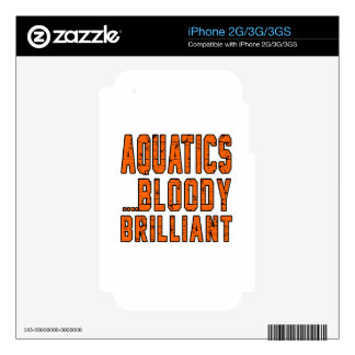 Aquatics Bloody Brilliant Decal For The iPhone 3GS