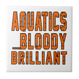 Aquatics Bloody Brilliant Small Square Tile