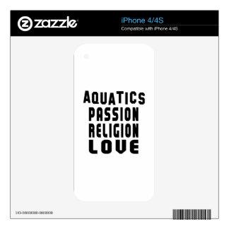 Aquatics Designs Skin For iPhone 4S