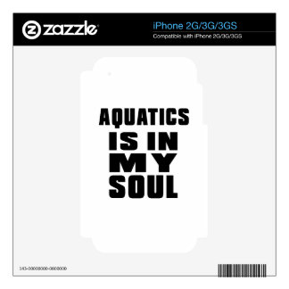 AQUATICS IS IN MY SOUL SKINS FOR THE iPhone 3GS