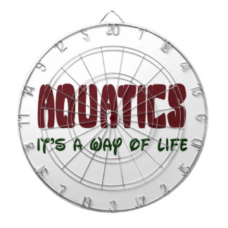 Aquatics It's a way of life Dartboard With Darts