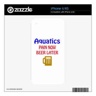 Aquatics pain now beer later skin for the iPhone 4S